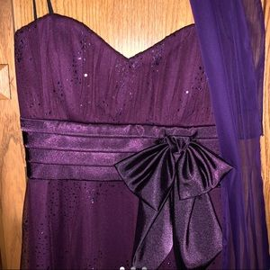 Dresses & Skirts - Sparkly Purple Scarf Dress 💜✨